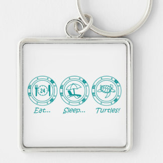Eat Sleep Turtles! Key Ring