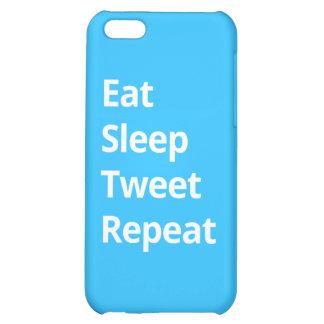Eat Sleep Tweet Repeat - iPhone Case iPhone 5C Case