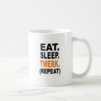 Eat. Sleep. Twerk. Basic White Mug