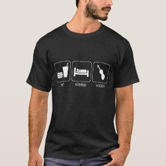 eat sleep violin - dark T-Shirt
