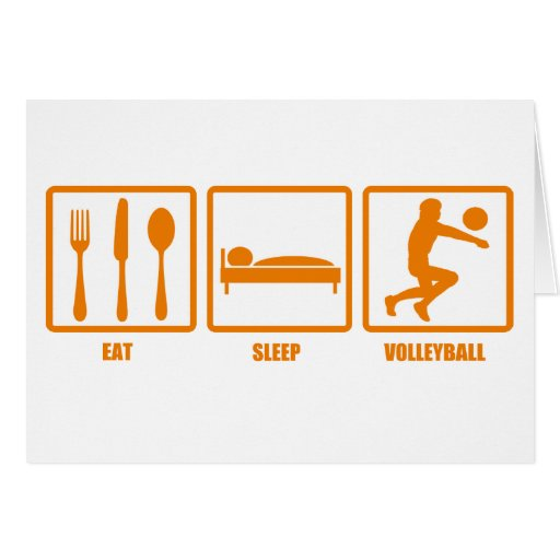 eat sleep volleyball greeting card zazzle