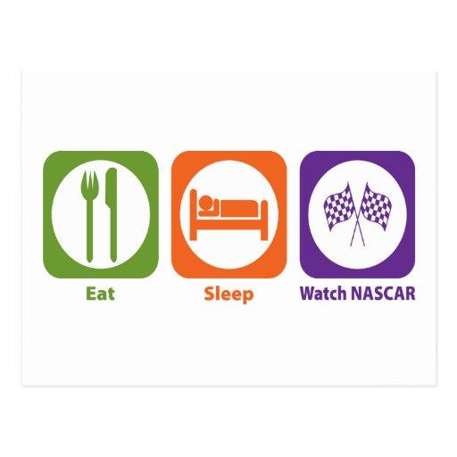 Eat Sleep Watch NASCAR Postcards