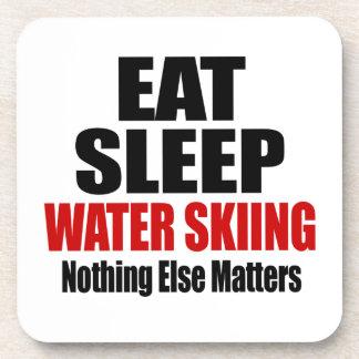 EAT SLEEP WATER SKIING BEVERAGE COASTERS