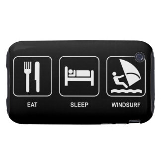 Eat Sleep Windsurf Tough iPhone 3 Case