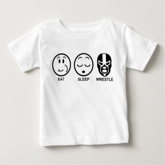 Eat Sleep Wrestle Baby T-Shirt