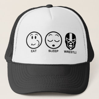 Eat Sleep Wrestle Trucker Hat