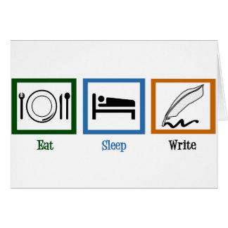 Eat Sleep Write Author Card