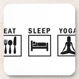 eat sleep yoga coasters