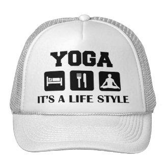 Eat Sleep Yoga Hats