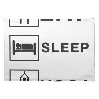 Eat Sleep Yoga Placemat