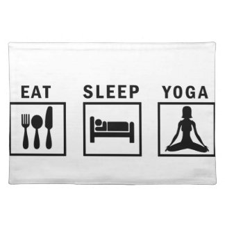eat sleep yoga placemat