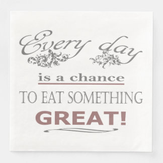 Eat Something Great Paper Napkins