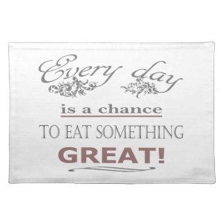 Eat Something Great Place Mat
