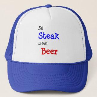 Eat Steak Drink Beer Trucker Hat