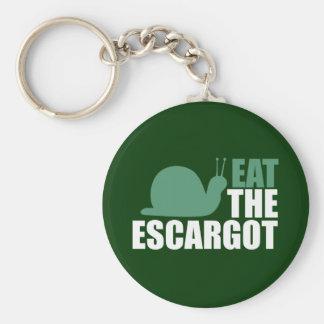 Eat the Escargot Land Snail Delicacy Key Ring