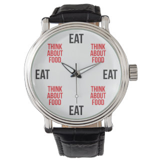 Eat, Think About Food - Funny Novelty Watch