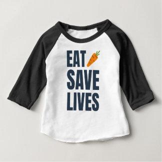 Eat Vegan - Save Lives Baby T-Shirt