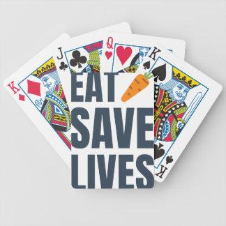 Eat Vegan - Save Lives Bicycle Playing Cards