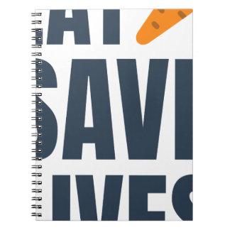 Eat Vegan - Save Lives Notebook