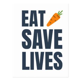Eat Vegan - Save Lives Postcard