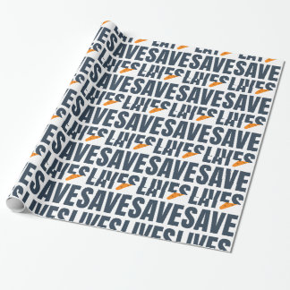 Eat Vegan - Save Lives Wrapping Paper