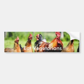 """""""Eat Vegetarians"""" Bumper Sticker"""