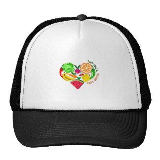 eat well feel swell trucker hat