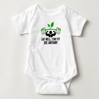 eat well graphic design baby bodysuit