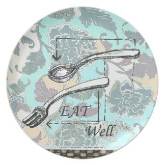 Eat Well - Melamine Plate (2)
