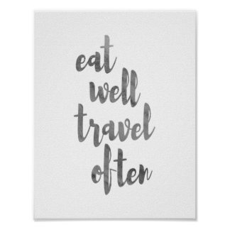 Eat Well, Travel Often Poster