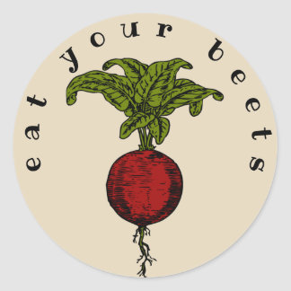 Eat Your Beets Classic Round Sticker