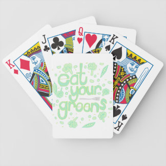 eat your greens bicycle playing cards