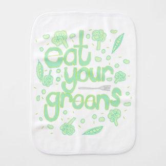 eat your greens burp cloth
