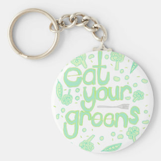 eat your greens key ring