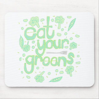 eat your greens mouse pad