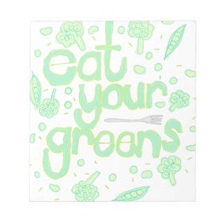 eat your greens notepad
