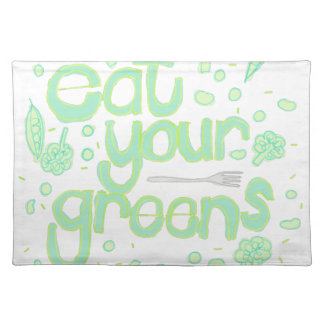 eat your greens placemat