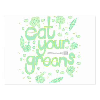 eat your greens postcard