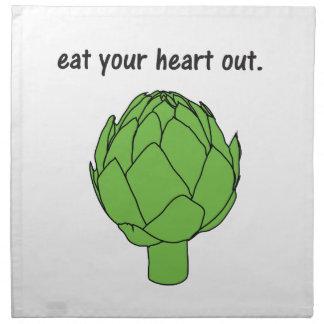 eat your heart out. (artichoke) cloth napkins