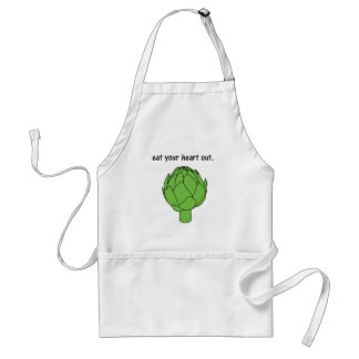 eat your heart out. (artichoke) standard apron