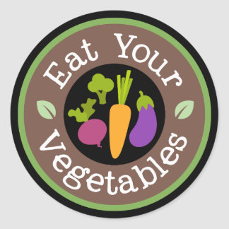 Eat your vegetables fun word art sticker