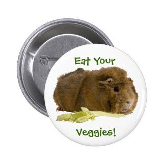 Eat Your Veggies! 6 Cm Round Badge