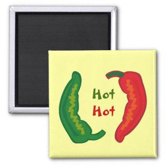 Eat Your Veggies Hot Chili Jalapeño Fridge Magnet
