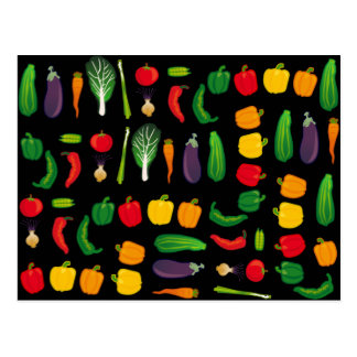 Eat Your Veggies Multi-Vegetable Postcard