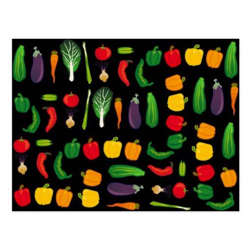 Eat Your Veggies Multi-Vegetable Postcard