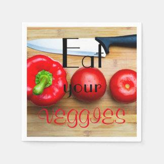 Eat your veggies paper napkin