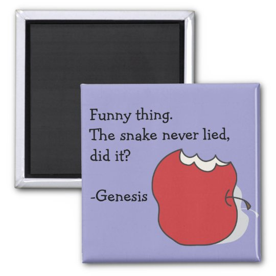 Eaten Apple The Snake Never Lied Genesis Magnet