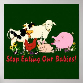 Eating Animal Babies Poster