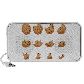 Eating cookie iPod speakers