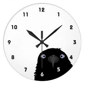 Eating Crow Clock